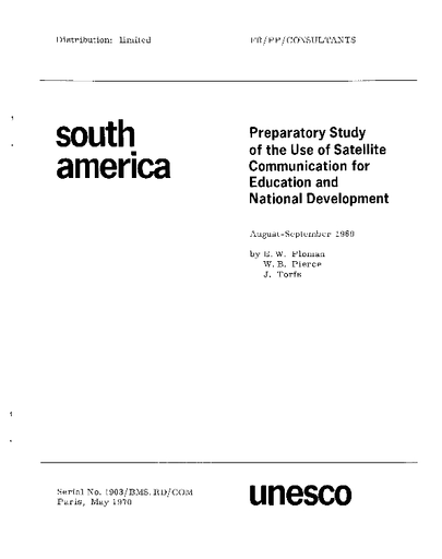 Preparatory studies on the use of satellite communication for ...