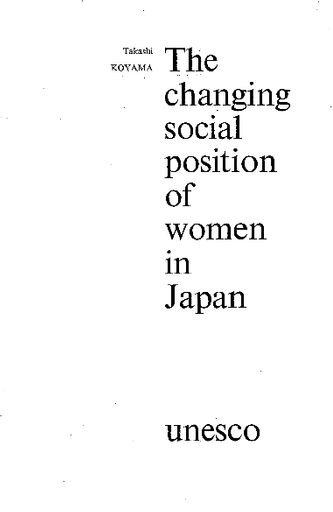 the changing social position of women in japan   unesco digital library close