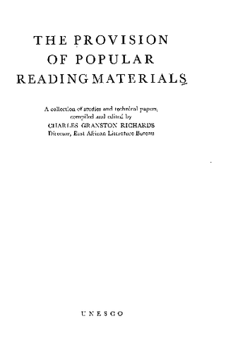 The Provision Of Popular Reading Materials A Collection Of