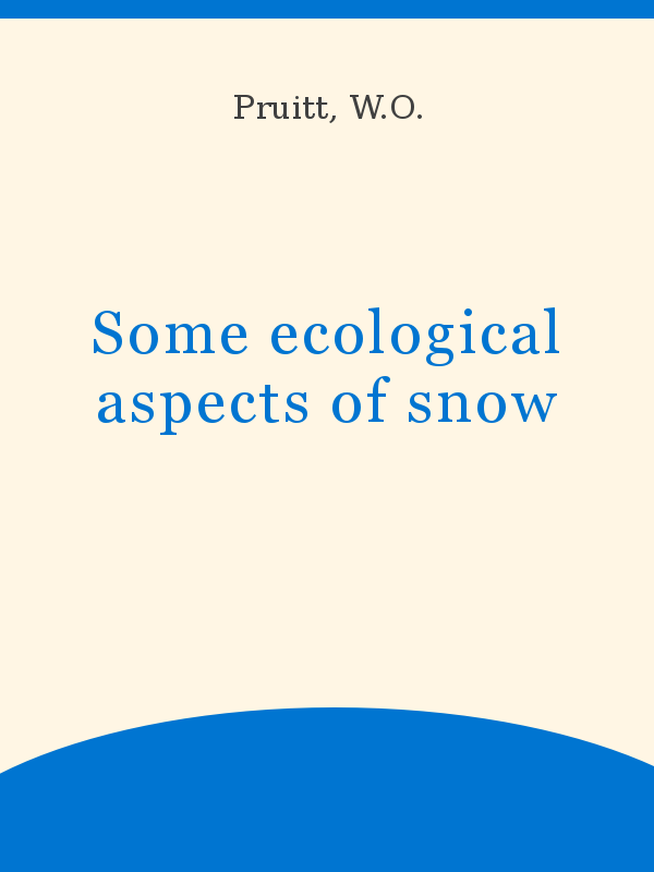 look out for sleek the latest Some ecological aspects of snow - UNESCO Digital Library