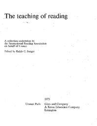 The Teaching Of Reading Unesco Digital Library