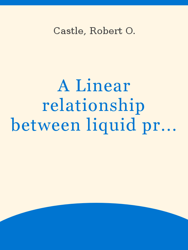 A Linear Relationship Between Liquid Production And Oil