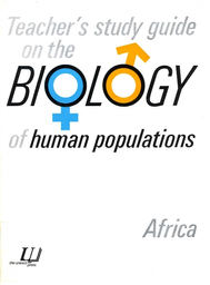 Teacher's study guide on the biology of human populations