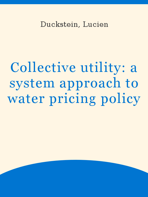 foto de Collective utility: a system approach to water pricing policy ...