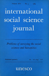 International Social Science Journal Xvi 4 Unesco Digital Library