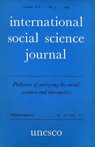 International social science journal, XVI, 4 - UNESCO