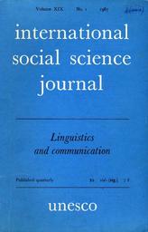 International Social Science Journal Xix 1 Unesco