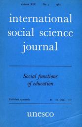 International Social Science Journal Xix 3 Unesco