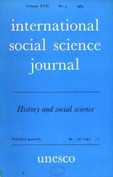 International social science journal, XVII, 4 - UNESCO