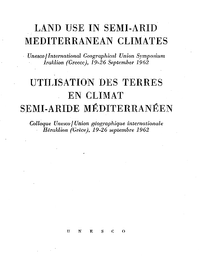 Land Use In Semi Arid Mediterranean Climates Proceedings Of