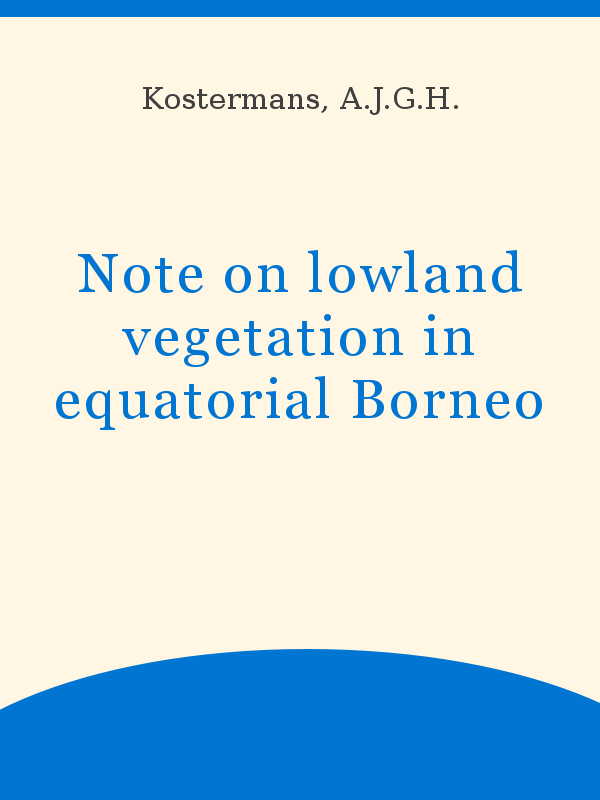 foto de Note on lowland vegetation in equatorial Borneo - UNESCO Digital ...