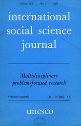 International Social Science Journal Xx 2 Unesco Digital