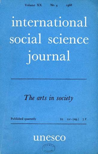 International Social Science Journal Xx 4 Unesco Digital Library