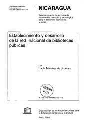 Establecimiento Y Desarrollo De La Red Nacional De