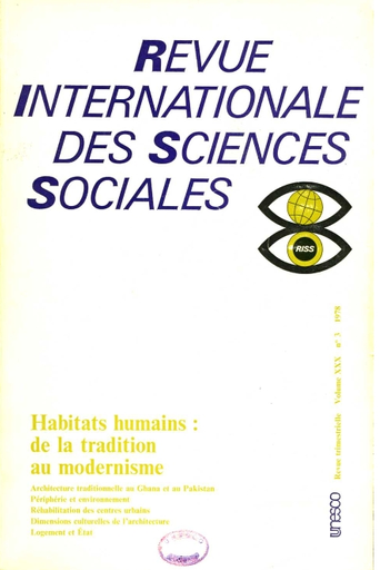 Revue Internationale Des Sciences Sociales Xxx 3 Unesco Digital Library