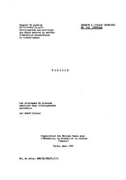 Les Programmes De Sciences Physiques Dans L Enseignement