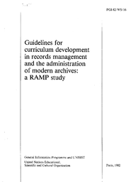 Guidelines for curriculum development in records management