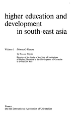 Higher education and development in South-East Asia, v 1
