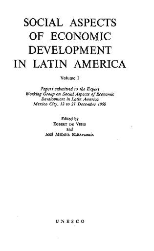 Social aspects of economic development in Latin America