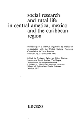 Social Research And Rural Life In Central America Mexico