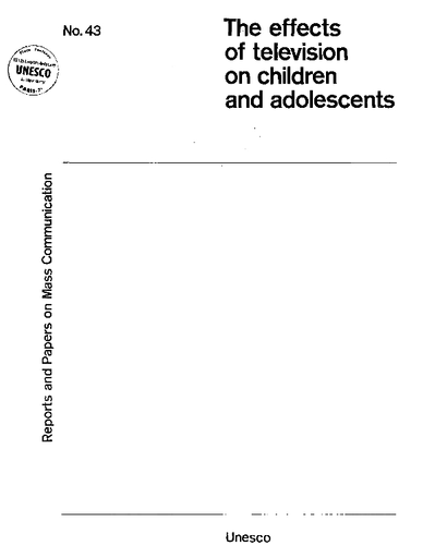 The Effects Of Television On Children And Adolescents An Annotated