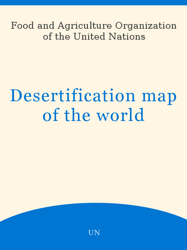 Desertification Map Of The World Unesco Digital Library