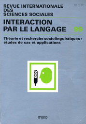 Un Cadre Analytique Pour L étude De La Diffusion Des Langues