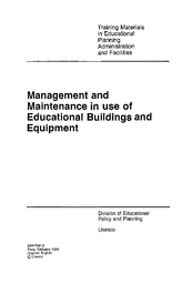 Management and maintenance in use of educational buildings