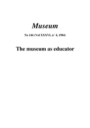 The Museum As Educator Unesco Digital Library