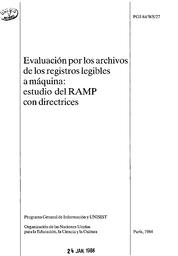 Evaluación Por Los Archivos De Los Registros Legibles A