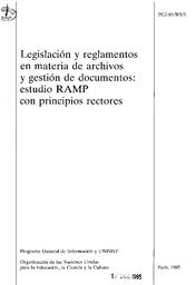 Legislación Y Reglamentos En Materia De Archivos Y Gestión