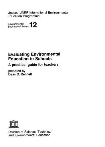 Evaluating environmental education in schools: a practical