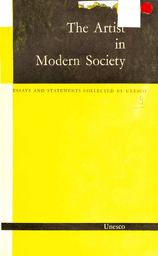 The Artist in modern society essays and statements