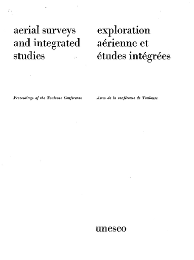 Aerial Surveys And Integrated Studies Proceedings Of The