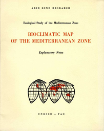 Bioclimatic Map Of The Mediterranean Zone Ecological Study