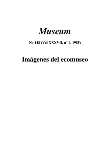 Definición Evolutiva Del Ecomuseo Unesco Digital Library