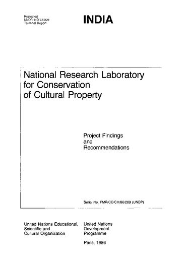 National Research Laboratory for Conservation of Cultural