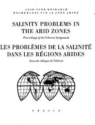 Salinity Problems In The Arid Zones Proceedings Of The