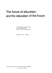 Reflections On The Future Development Of Education Unesco