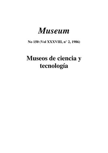 La Función Social De Los Museos De Educación Científica Una