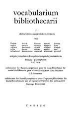 Vocabularium bibliothecarii: English/French/German/Spanish/Russian