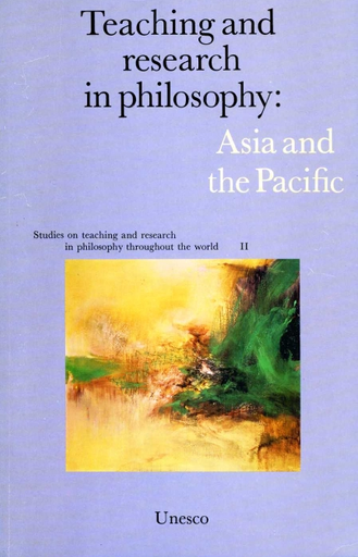 Teaching and research in philosophy Asia and the Pacific