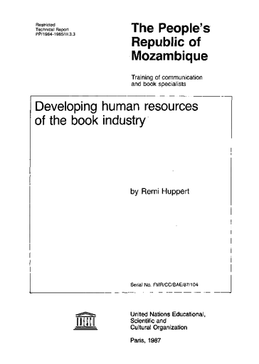 Developing human resources of the book industry: The