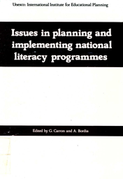 Issues in planning and implementing national literacy