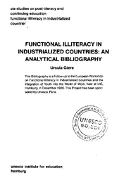 Functional Illiteracy In Industrialized Countries An Analytical