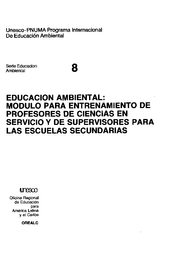 Educación Ambiental Modulo Para Entrenamiento De Profesores