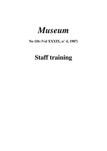 Staff training - UNESCO Digital Library