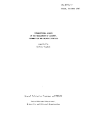 International Reader In The Management Of Library Information And Archive Services Unesco Digital Library