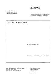 Deaf education: Jordan - (mission) - UNESCO Digital Library