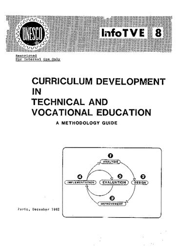 Curriculum development in technical and vocational education